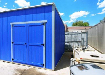 Blue Lean-To Shed