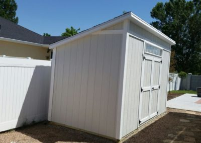 Lean-To Shed with Overhang and Transom Window (Side)