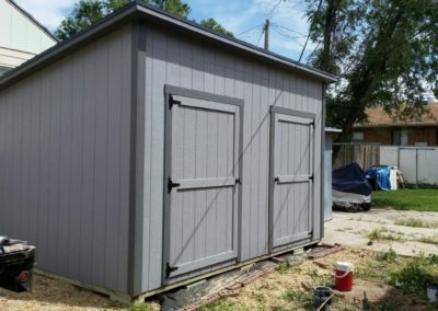 Lean-To Shed with Two Doors