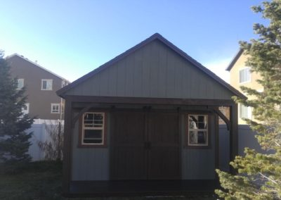 Tooele Shed with Gable End Porch