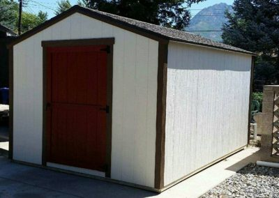 Vineyard Shed with Red Door